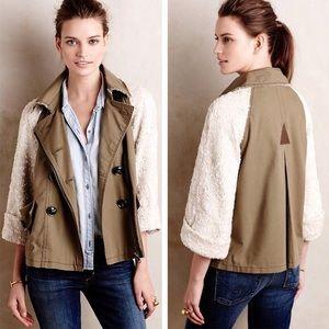 Anthropologie Hei Hei Sequined Sleeve Jacket